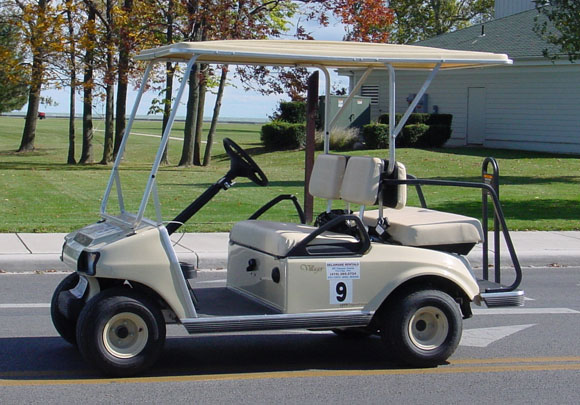 how to put airbags on a golf cart